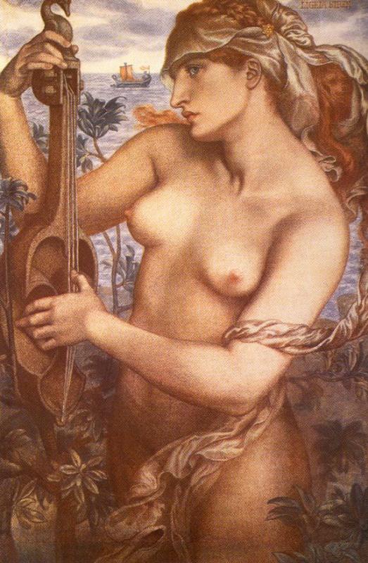 Dante Gabriel Rossetti. Siren Ligeia