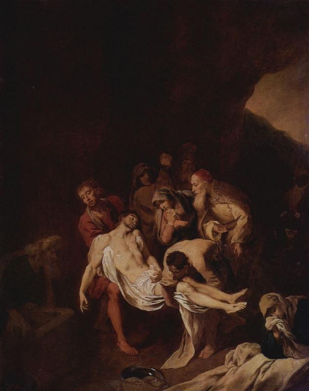 Христиан Вильгельм Эрнст Дитрих (Дитрици). Положение во гроб
