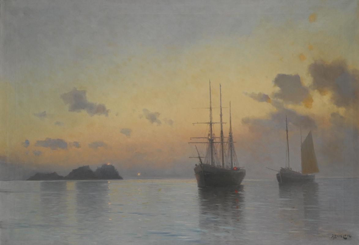 Alexey Vasilyevich Ganzen. Sea landscape