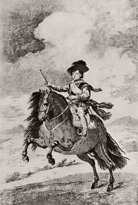 Франсиско Гойя. Конный портрет принца Балтазара Карлоса, сына Филиппа IV, с Веласкеса