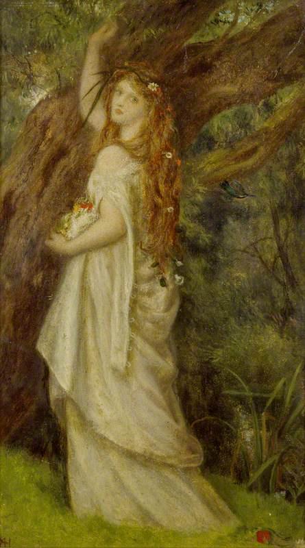 Arthur Hughes. Ophelia before death. Sketch