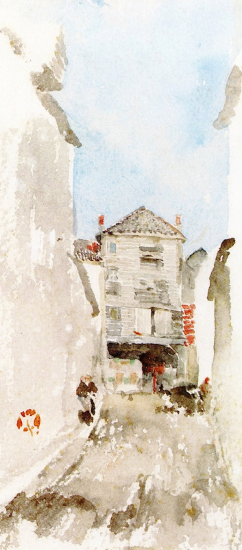 James Abbot McNeill Whistler. Street scene