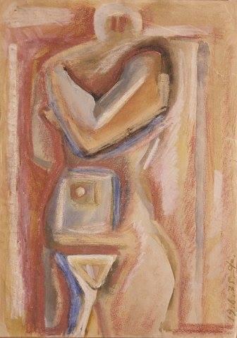 Victor Fedorov (1937-2010). Vladivostok.. Female. Pastel.