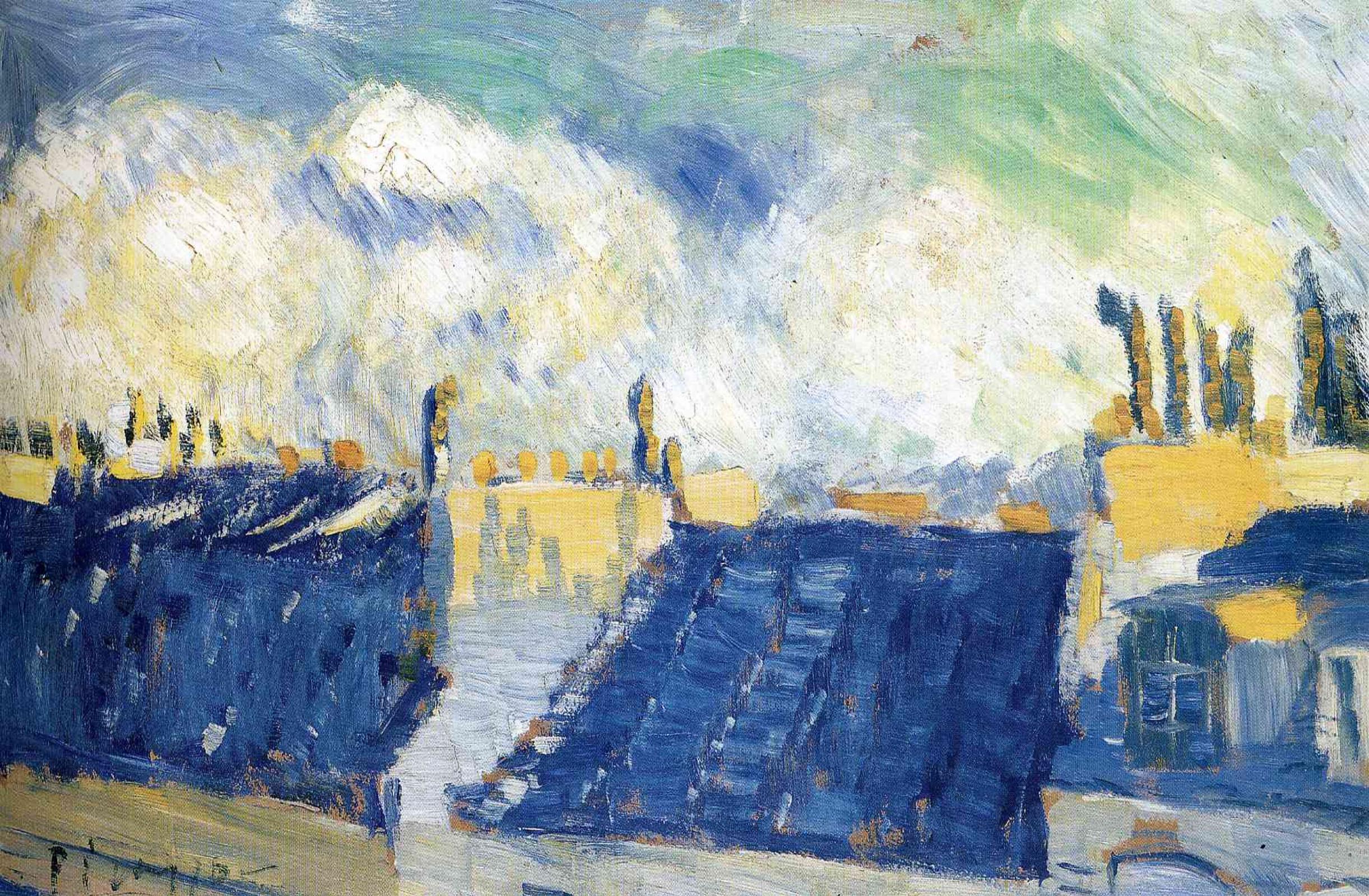 Пабло Пикассо. Голубые крыши, Париж
