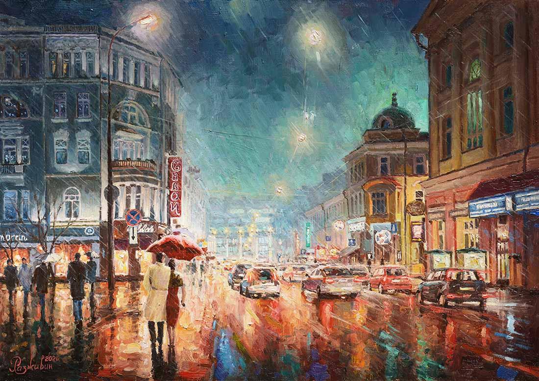 Igor Razzhivin. Romance of Moscow at night
