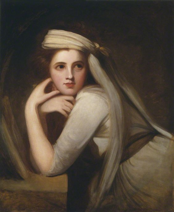 George Romney. Portrait of Emma Hart (later Hamilton) in the form of a Bacchante