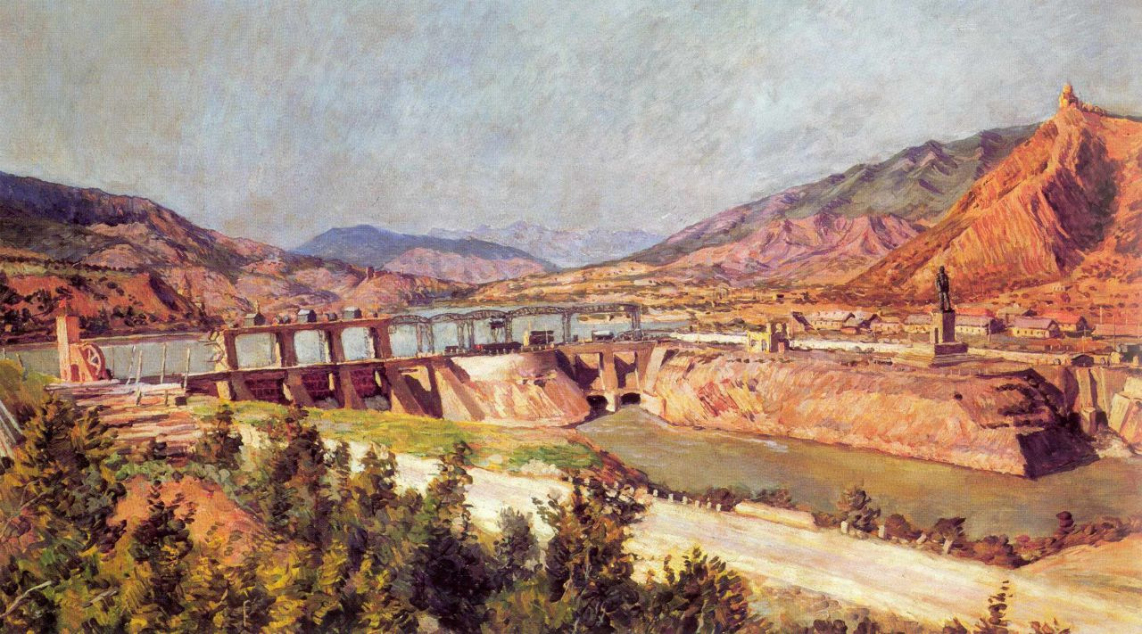 Ilya Ivanovich Mashkov. Sages. Dam on the Kura river highway and Georgian Military highway