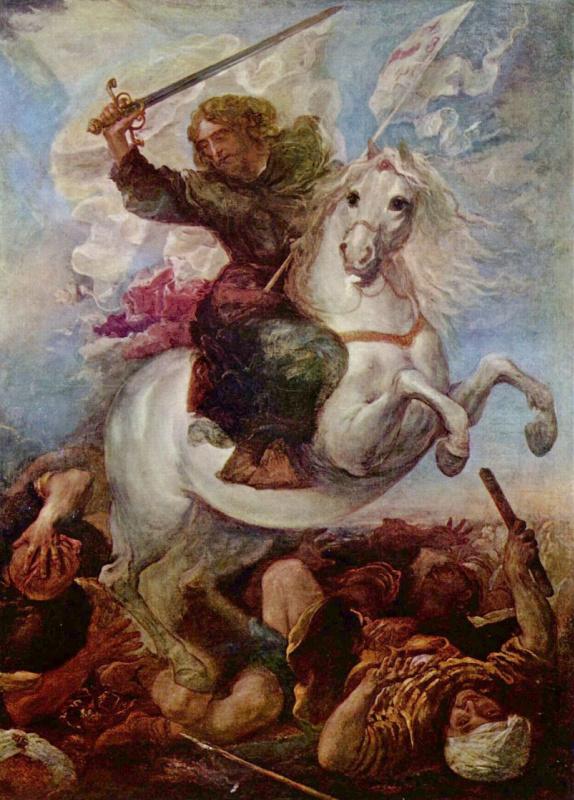 Juan Carreno de Miranda. Victory of St. James the Apostle on the Moors