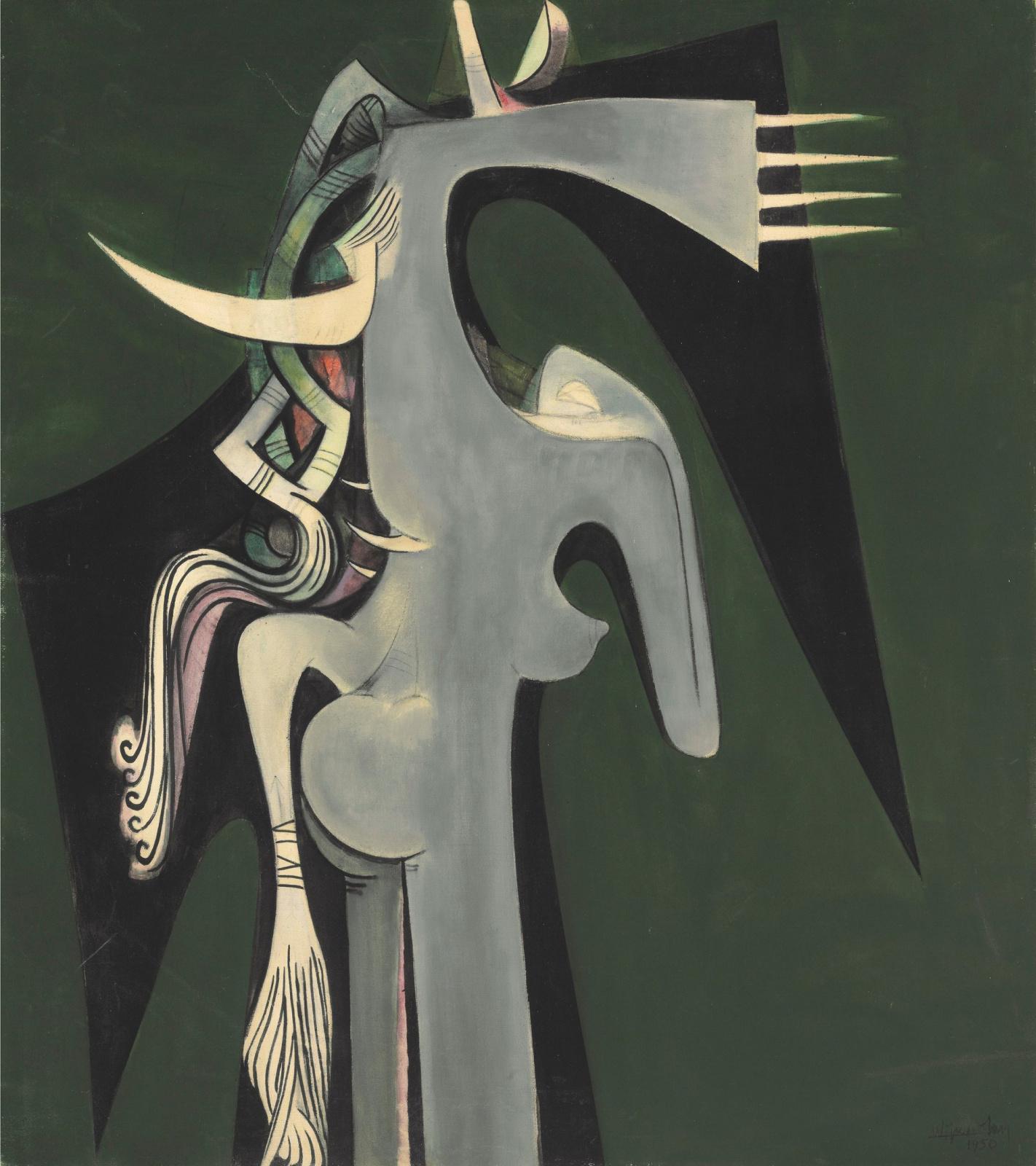Вифредо Лам. Женщина с головой лошади