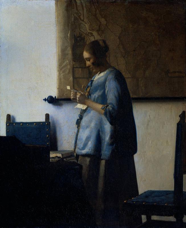 Ян Вермеер. Дама в голубом, читающая письмо