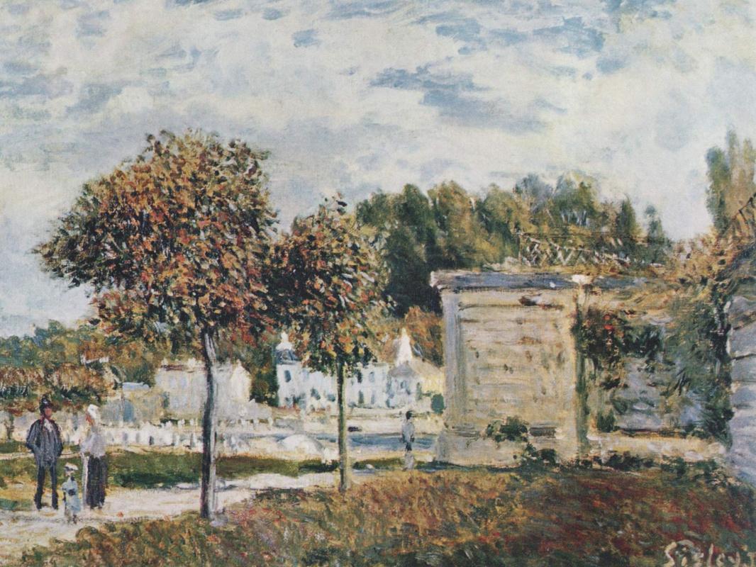 Alfred Sisley. The pond in gauze