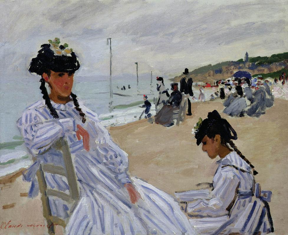 Клод Моне. На пляже в Трувиле