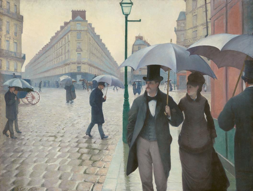 Гюстав Кайботт. Париж. Дождливый день