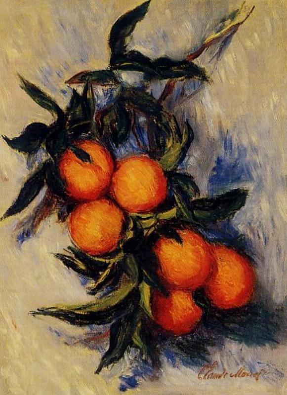 Claude Monet. Branch of oranges