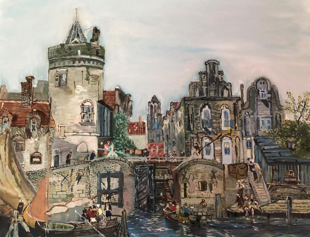 Sergey Vladimirovich Sebini. Old City . Variation on the theme of Verveer