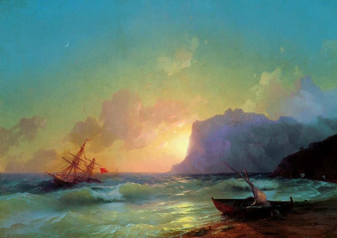 Ivan Aivazovsky. Sea. Koktebel
