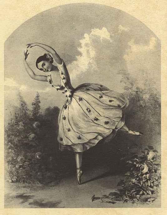 "Альфред Эдвард Шалон. Балерина Мария Тальони в спектакле ""Фея цветов"""