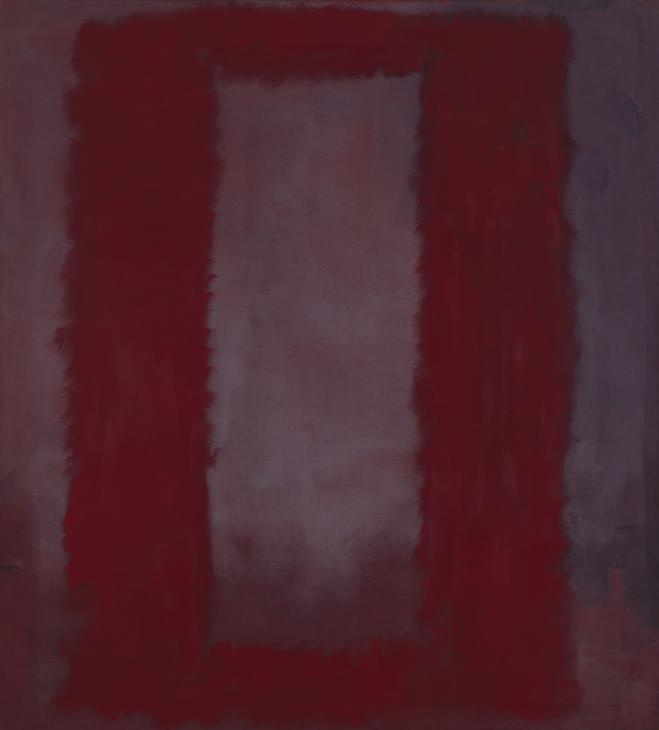Rothko Mark. Red on Burgundy