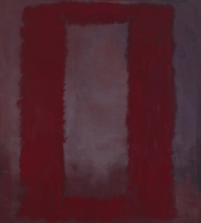 Марк Ротко. Красный на бордовом