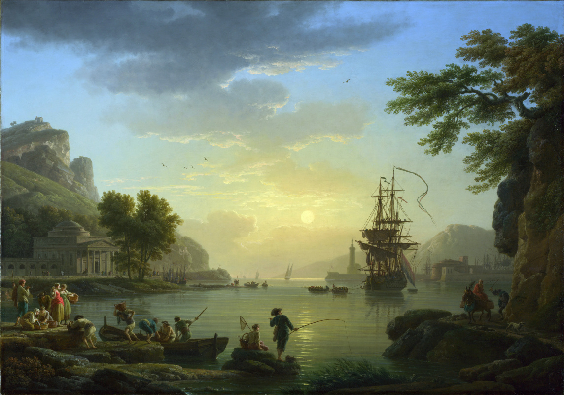 Клод Жозеф Верне. Пейзаж на закате