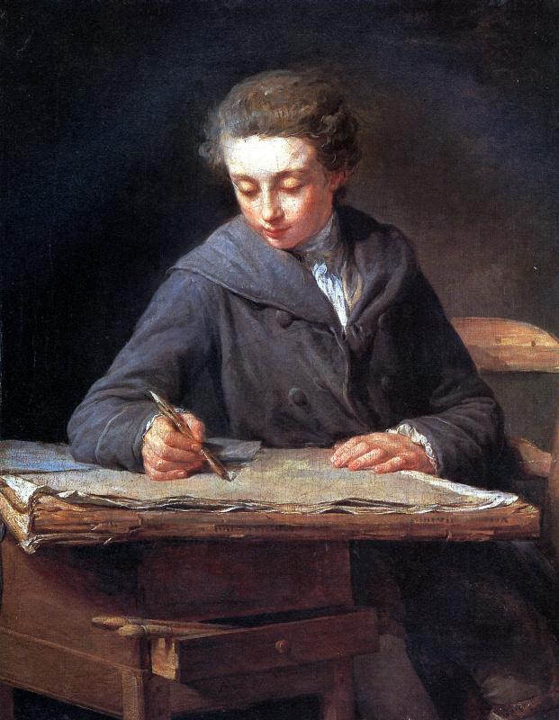 Никола Бернар Леписье. Юный рисовальщик