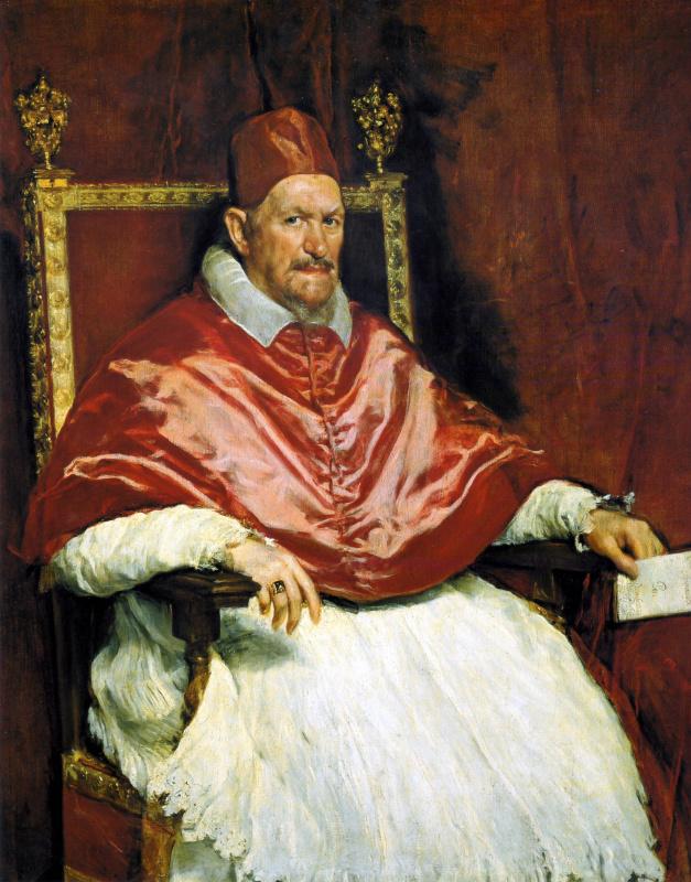Diego Velazquez. Portrait Of Pope Innocent X