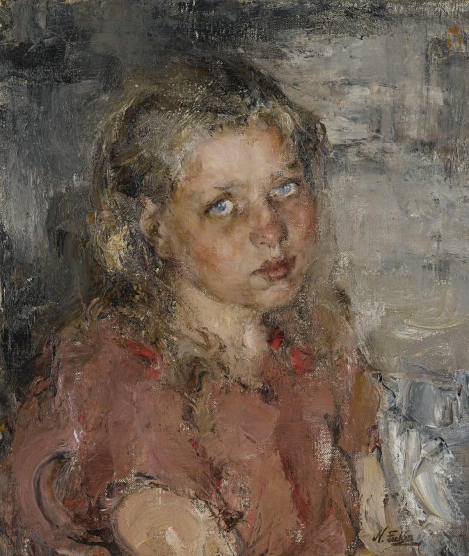 Николай Иванович Фешин. Портрет девочки