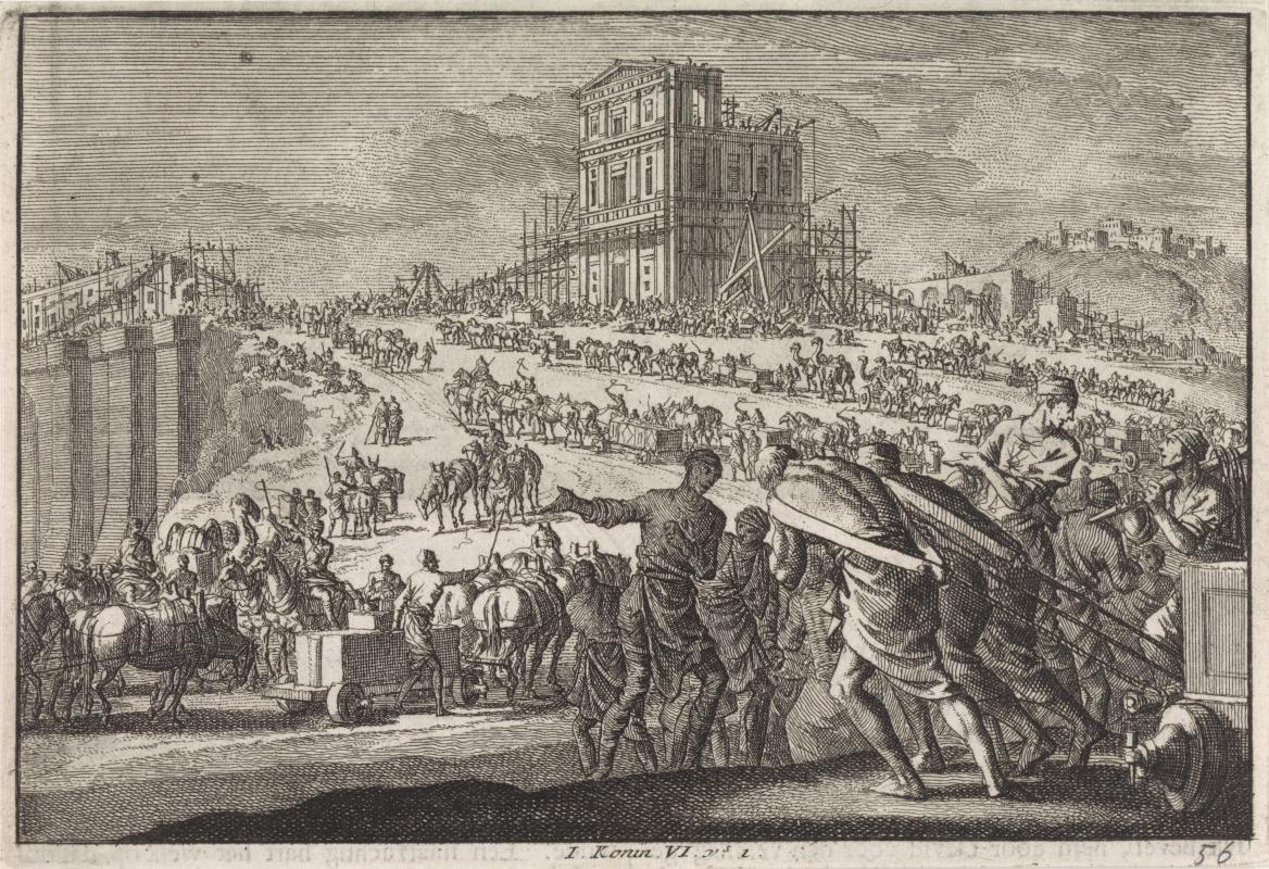 Jan Leuken. King Solomon builds a temple