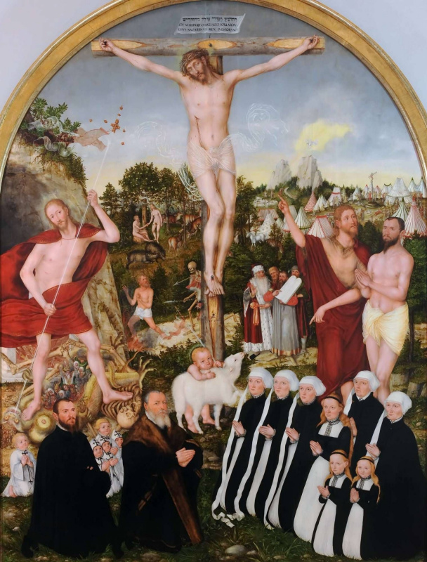 Lucas the Younger Cranach. Allegory of redemption