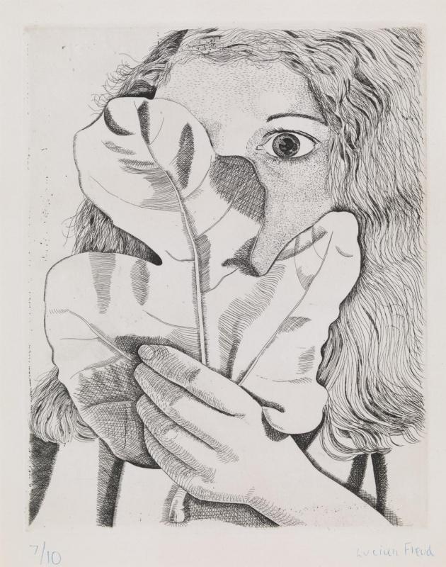 Люсьен Фрейд. Девушка с фиговым листком