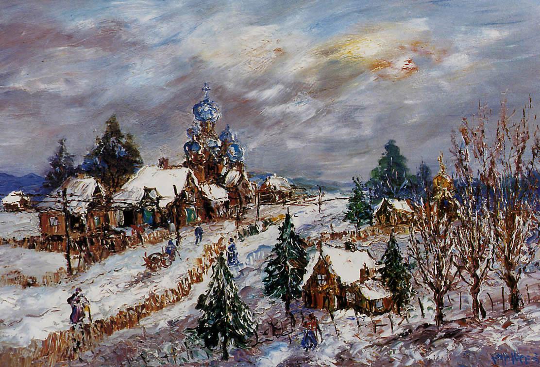 Ян Маккес. Зимний пейзаж