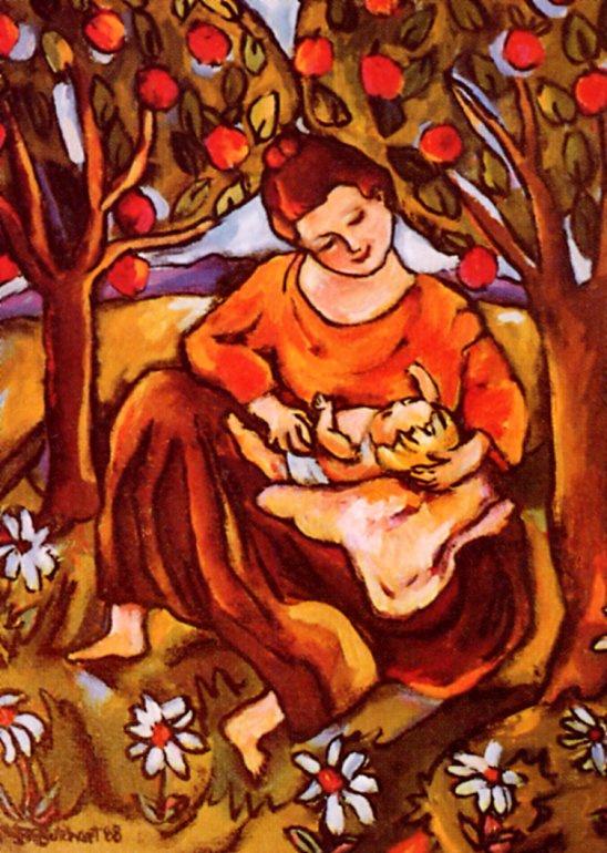 Irdja Karen Buchart. Playing with the child