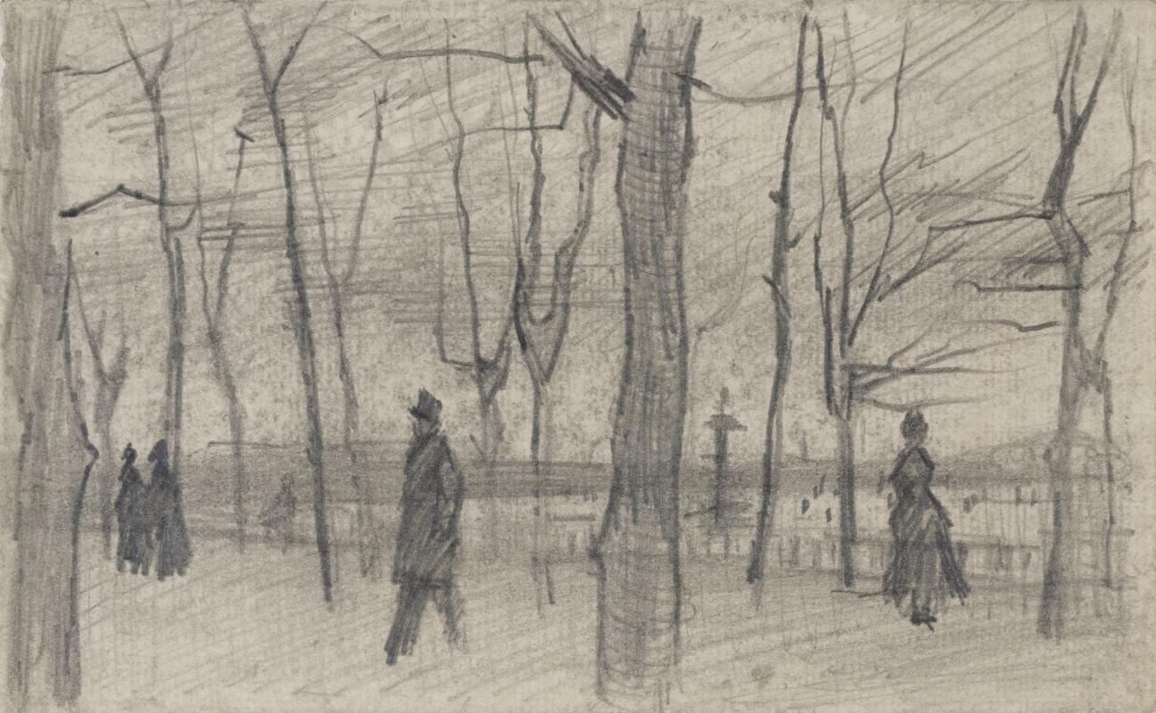 Vincent van Gogh. The garden in Luxembourg
