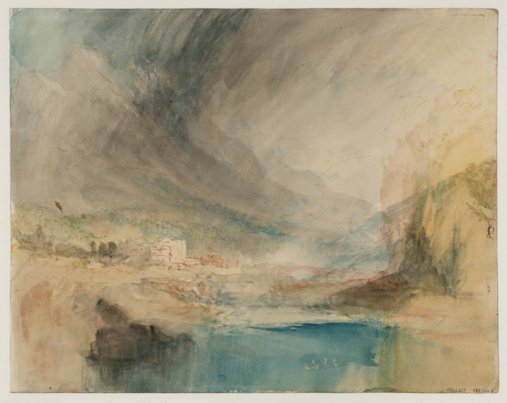Joseph Mallord William Turner. Storm in the mountains
