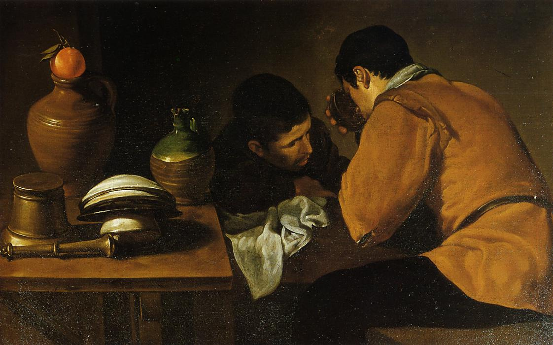 Диего Веласкес. Два юноши у стола