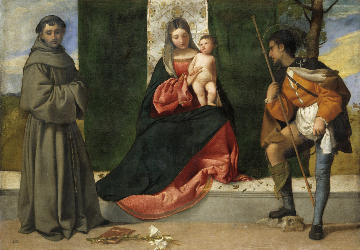 Giorgione. Madonna and Child with Saint Anthony of Padua and Saint Roch (co-author with Titian)