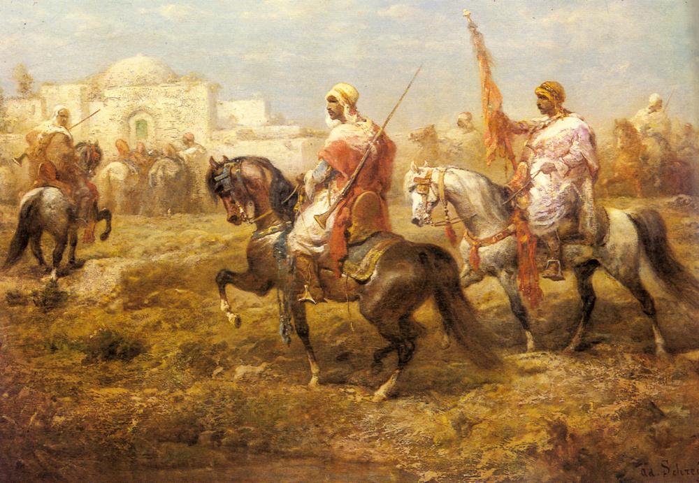 Адольф Шрейер. Арабская кавалерия приближаясь к оазису