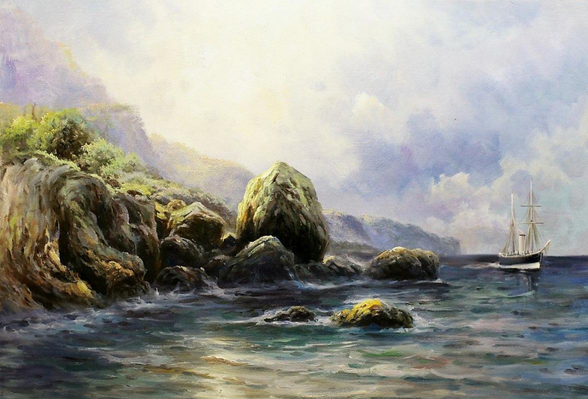 Daria Feliksovna Lagno. On the shore