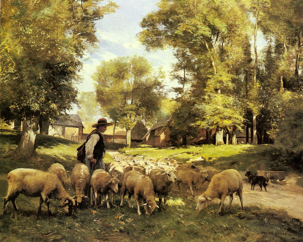 Julien Dupree. The shepherd and his flock