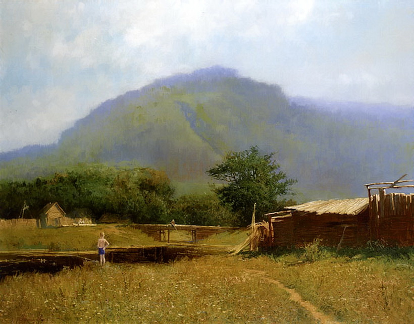Alexander Pavlovich Afonin. Morning in the Zhiguli mountains