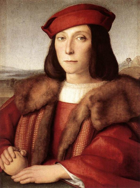 Рафаэль Санти. Портрет юноши с яблоком (Возможно, портрет Франческо Мария делла Ровере)