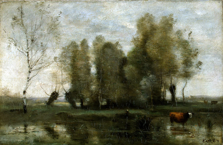 Камиль Коро. Деревья среди болота