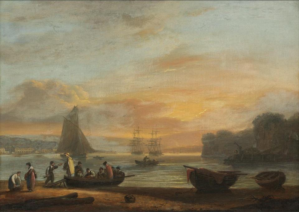 Thomas Luni. The Ferry at Teignmouth, Devon