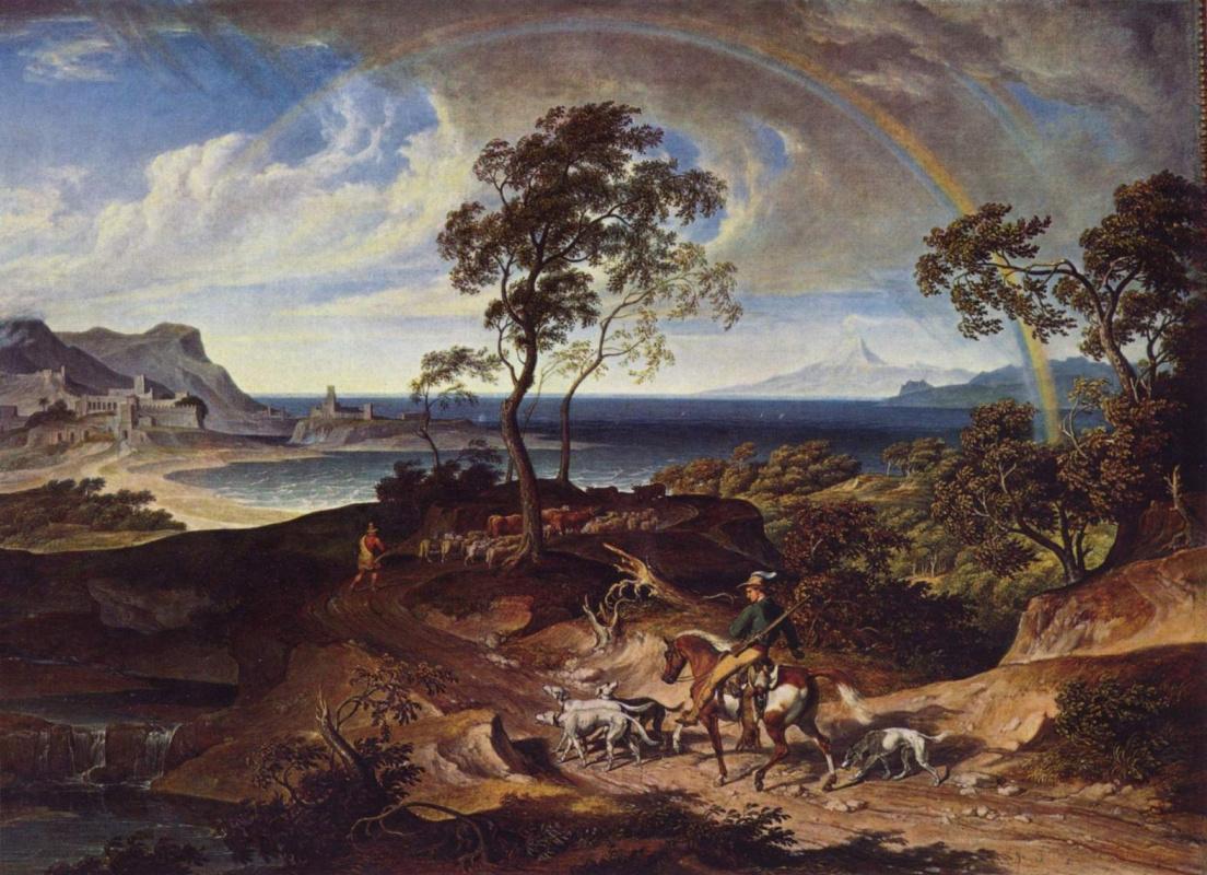 Йозеф Антон Кох. Пейзаж после грозы