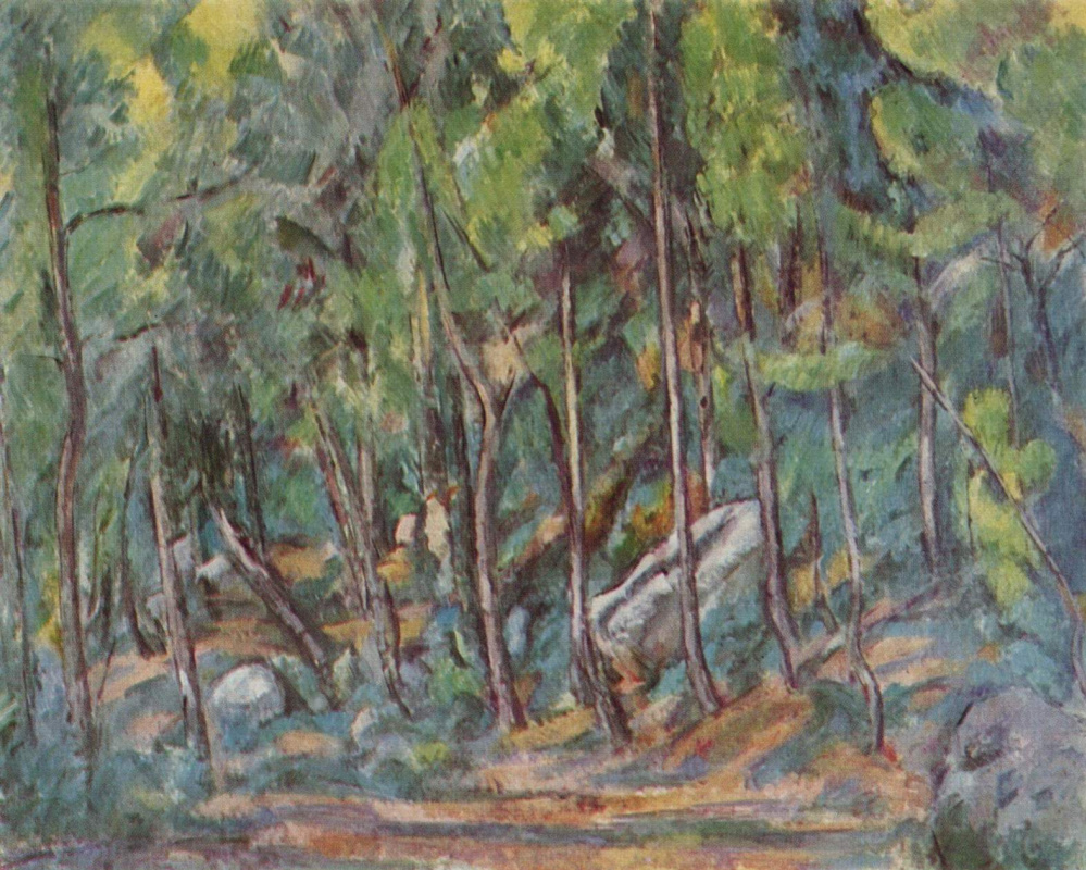 Paul Cezanne. In the forest of Fontainebleau