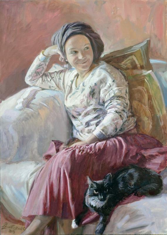 Сергей Рулевский. Девушка с котом