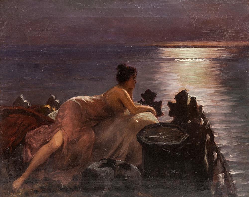 Вильгельм Александрович Котарбинский. Женщина, глядящая на море
