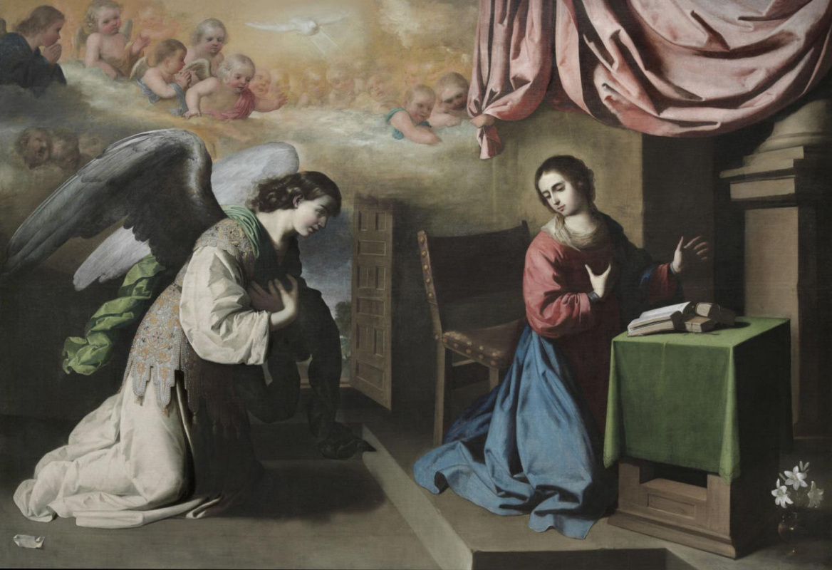 Francisco de Zurbaran. The Annunciation