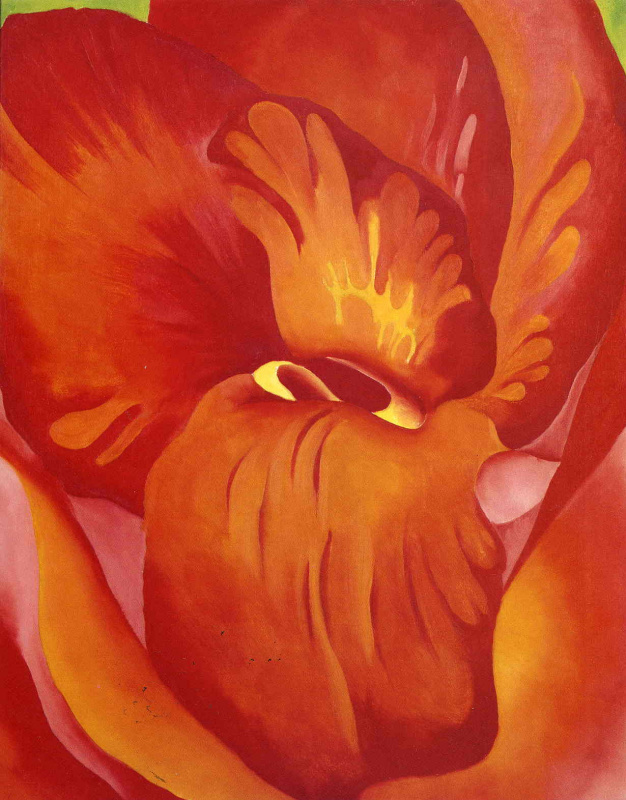 Джорджия О'Киф. Канна красная с оранжевым