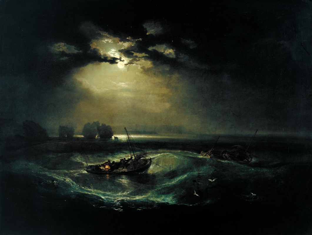 Джозеф Мэллорд Уильям Тёрнер. Рыбаки в море